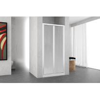 Porta doccia Oceania 84-90, H 195 cm vetro temperato 4 mm bianco lucido