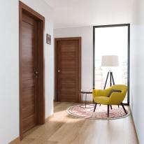 Porta per bed & breakfast battente Coventry noce 80 x H 210 cm dx