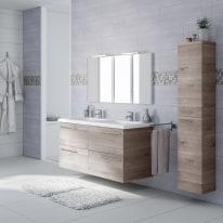 Mobile bagno Elea grigio L 122 cm