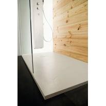 Piatto doccia resina Pizarra 90 x 80 cm ecrù