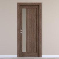 Porta da interno battente Gash tabacco 70 x H 210 cm dx