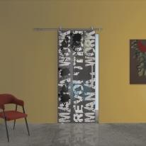Porta da interno scorrevole Carpet 2/binario Lux 88 x H 215 cm sx