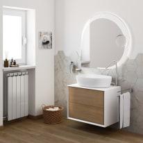 Mobile bagno Devon rovere L 70 cm