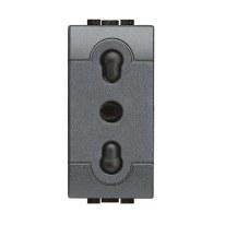 Presa 10/16A BTicino L4180 Livinglight antracite