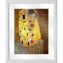 Quadro in vetro con cornice Klimt bacio 45,5x55,5