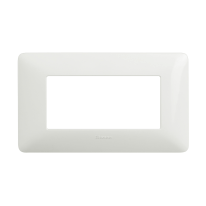 Placca 4 moduli BTicino Matix bianco