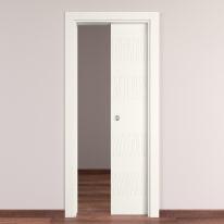 Porta da interno scorrevole Fence bianco 80 x H 210 cm reversibile