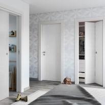 Porta da interno battente Hunk cemento calce 80 x H 210 cm dx