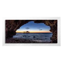 quadro su tela con cornice Finestra 76x136