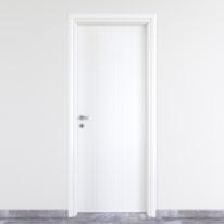 Porta da interno battente Pvc white bianco 60 x H 210 cm dx