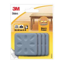 4 pattini adesivi L 50 x H 50 mm