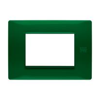 Placca 3 moduli Simon Urmet Nea Flexa verde