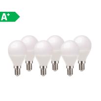 6 lampadine LED E14 =60W sfera luce naturale 220°