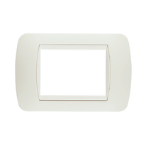 Placca 3 moduli BTicino Living International total white
