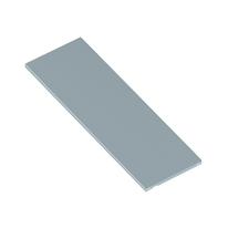 Ripiano grigio L 80 x P 30 x H 30 cm