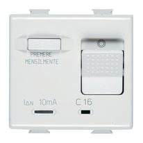 Interruttore magnetotermico 16A 1P BTicino Matix bianco