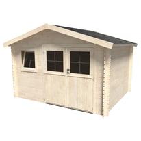 casetta in legno grezzo Azalea Plus 9,05 m², spessore 28 mm