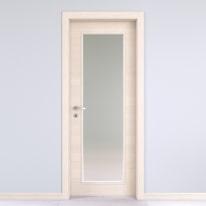 Porta da interno battente Lucad vetro graf matrix 70 x H 210 cm reversibile