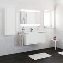 Mobile bagno Roxanne bianco L 100 cm