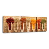 Quadro in legno Colorful spices 20x50
