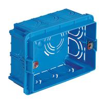 15 scatole rettangolari Vimar 0TV71303 azzurra