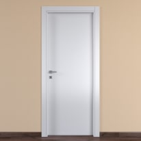Porta da interno battente One white bianco 60 x H 210 cm reversibile