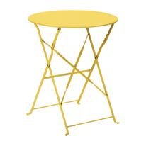 Tavolo pieghevole Color, Ø 60 cm giallo