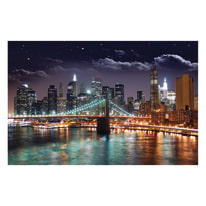 quadro su tela Ny by night 95x145