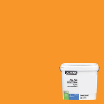 Idropittura lavabile Mano unica Arancio Arancio 5 - 4 L Luxens