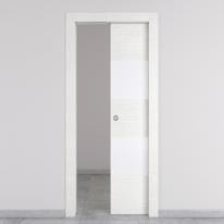 Porta da interno scorrevole Melangè bianco 80 x H 210 cm dx