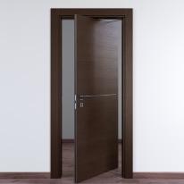 Porta da interno rototraslante Wright Fumo 80 x H 210 cm dx