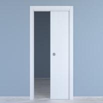 Porta da interno scorrevole Renoir bianco venato 90 x H 210 cm reversibile