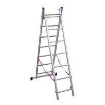Scala sfilo alluminio Facal 2x7 gradini, per lavori fino a 4 m