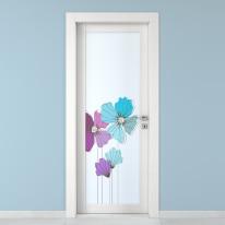 Porta da interno battente Eden larice bianco 90 x H 210 cm sx