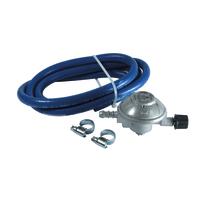 Kit regolatore taratura variabile con tubo per GPL M 16x1,5 + portagomma 25-70 mbar - 0.8Kg/h