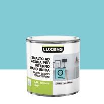 Smalto manounica Luxens all'acqua Blu Miami 5 satinato 0.5 L