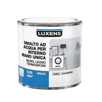 Smalto manounica Luxens all'acqua Bianco satinato 0.5 L