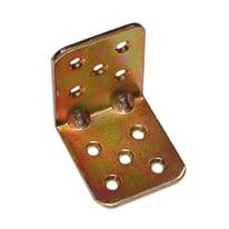 Piastra piegata 45 x 40 mm, in acciaio zincato ad alta resistenza alla corrosione