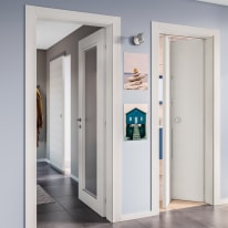 Porta da interno battente Star Bianco matrix 80 x H 210 cm reversibile