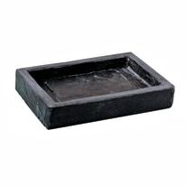 Porta sapone Black Stone nero