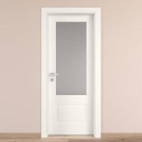 Porta da interno battente Shibuya Vetro Bianco 70 x H 210 cm dx