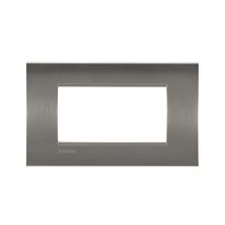 Placca 4 moduli BTicino Livinglight acciao spazzolato