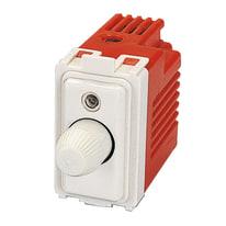 Interruttore Regolatore elettronico + deviatore a pulsante a cursore unipolare avorio