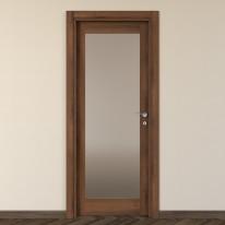 Porta da interno battente Vei noce 70 x H 210 cm sx