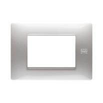 Placca 3 moduli Simon Urmet Nea Flexa alluminio
