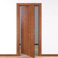 Porta da interno rototraslante Diamond noce biondo 80 x H 210 cm sx