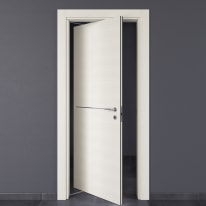 Porta da interno rototraslante Hollow bianco matrix 70 x H 210 cm sx