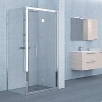 Porta doccia Elyt 96-102, H 190 cm cristallo 6 mm trasparente/cromo