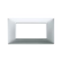 Placca 7 moduli Vimar Plana argento opaco
