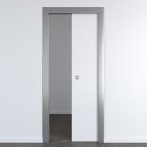 Porta per ufficio scorrevole Frame eco Bianco 70 x H 210 cm reversibile